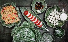 Coleccção couves Bordallo Pinheiro, decoração de mesas, cozinha | cauliflower collection, tableware, home design, kitchen.