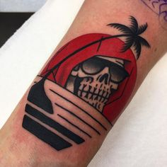 #deathinparadise #traditionaltattoo by Death Cloak