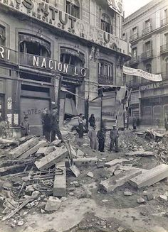 Spain - 1936. - GC - Calle Mayor esquina Montera - Madrid