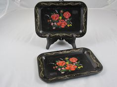 Two Small Decorative Trays by vintage2you on Etsy, $8.00