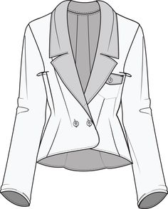 Flat Fashion Sketch Jacket