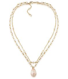 Carolee Radio City Layered Pearl Pendant Necklace #Dillards