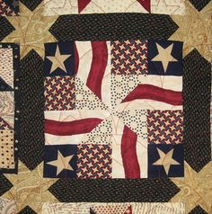 Civil War Quilts: Finishing Up the First Block-of-the-Month