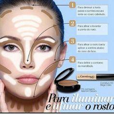 Contorno facial para iluminar