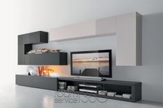 Modus 66 Contemporary Wall Unit by Presotto Living Room Tv Unit, Home Living Room, Living Room Decor, Modern Wall Units, Muebles Living, Tv Wall Decor, Tv Wall Design, House Design, Modern Interior Design