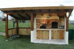 Ensemble barbecue et four à pain : Les plus beaux barbecues des lecteurs - Linternaute Barbecue Four A Pizza, Bbq, Outdoor Oven, Pergola, Outdoor Structures, House Styles, Outdoor Decor, Design, Garden Ideas