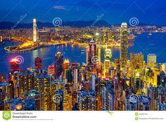 Horizon De Hong Kong La Nuit - Télécharger parmi plus de 53 Millions des photos, d'images, des vecteurs et . Inscrivez-vous GRATUITEMENT aujourd'hui. Image: 45035134