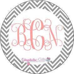 Chevron Pattern Personalized Melamine Plate. $22.00, via Etsy.