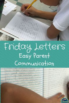 I can't wait to start this with my first grade friends this year!---- Friday Letters are an easy way to increase communication between home and school. Students write a weekly letter to their parents telling them about their week in school. Parent Teacher Communication, Parent Teacher Conferences, Family Communication, Parent Notes, Letter To Parents, Parents As Teachers, Parent Letters, Teaching Writing, Teaching Tips