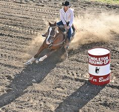 Barrel Racing  I love the perspective and composition of this photo by Joe Duty.