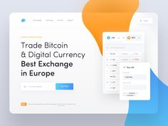 Cryptocurrency Exchange - Landing Page