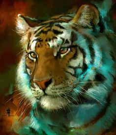 20150904 Tiger Psdelux by psdeluxe on DeviantArt Big Cats, Cool Cats, Lion Africa, Cat Species, Animal Sketches, Animal Totems, Texture Art, Texture Painting, Wildlife Art