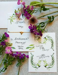 How To Pop The (other) Question – Asking Bridesmaids to Be in your Wedding - cards & gifts for your bridesmaids to be.