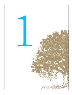 Table Number Cards. Printable Wedding Invitations Antique Tree Engraving: Brown