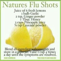 flu remedy made with ingredients in your kitchen