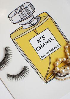 Chanel N.5 Perfume... Fashion Illustration Art Print
