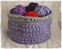 Brødkurv,- også fin til garn :-) Oppskrift fra Drops Bread basket,- also great for yarn :-) Design from Drops