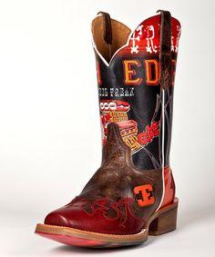 Love this Brown Speed Freak Leather Cowboy Boot - Men on #zulily! #zulilyfinds