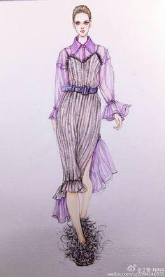 Fashion Illustration Tutorial, Fashion Illustration Collage, Fashion Illustration Dresses, Beauty Illustration, Dress Design Sketches, Fashion Design Drawings, Fashion Sketches, Fashion Design Classes, Arte Fashion