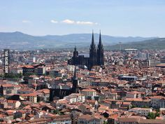 The black cathedral in Clermont Ferrand, France