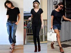 8 Maneiras de Combinar T-Shirt Preta | It Yourself