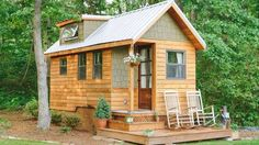 "<p>The 204-square-foot ""Wind River Bungalow"" is the Chattanooga, Tennessee, home of tiny house enthu... - Photo: Aimee Burchard"