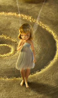 When Tinker Bell first arrives in Pixie Hollow, she is barefoot with a ...