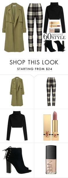 """""""Thanksgiving Dinner"""" by groove-muffin ❤ liked on Polyvore featuring MANGO, MaxMara, Valentino, Yves Saint Laurent and NARS Cosmetics"""