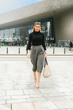 Reiss culottes with louboutins