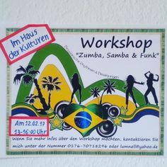 """Workshop """"Brasilianische Rhythmen""""Ein Mix aus Samba, Afro, Funk, Zumba"""