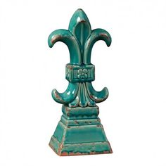 Buy the Howard Elliott 18159 Turquoise Glazed Ceramic Direct. Shop for the Howard Elliott 18159 Turquoise Glazed Ceramic Tall Ceramic Fleur de Lis Statue and save. Decorative Objects, Decorative Accessories, Home Accessories, Decorative Bowls, Entryway Console Table, Greek Statues, Turquoise, Aqua, Teal Yellow