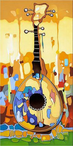 "- ""Happy Banjo"" by Artist Orestes Bouzon. Musik Illustration, Cuban Art, Art Populaire, Music Artwork, Inspiration Art, Art Moderne, Silk Painting, All Art, Creative Art"