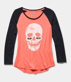 Girls' UA Glow Skull Long Sleeve Raglan | Under Armour US