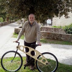 wooden bike - bicycle