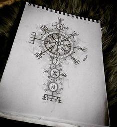 Vikinger Tattoo - Protección - Tattoo World Viking Tattoo Meaning, Viking Rune Tattoo, Norse Tattoo, Viking Tattoo Design, Viking Tattoos, Viking Compass Tattoo, Viking Tattoo Sleeve, Armor Tattoo, Warrior Tattoos