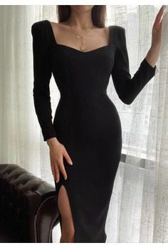 Classy Short Dresses, Prom Dresses Long With Sleeves, Dressy Dresses, Classy Dress, Elegant Dresses, Simple Outfits, Classy Outfits, Pretty Outfits, Stylish Outfits