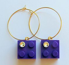 Purple LEGO R brick 2x2 with a Diamond color by MademoiselleAlma, $14.99 #LEGO
