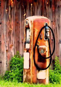 Old gas pump.