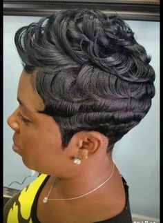 Popular Short Hairstyles for Black Women Mar 2017 admin Kurzhaar Frisuren 0 Black hairstyles sometimes hard to handle and if you want a easy t. Short Sassy Hair, Short Hair Cuts, Curly Hair Styles, Natural Hair Styles, Popular Short Hairstyles, Weave Hairstyles, Black Hairstyles, Hairstyles Men, Trending Hairstyles