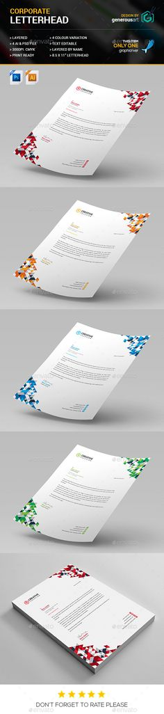 Corporate Letterhead Template Letterhead template and Letterhead - corporate letterhead template