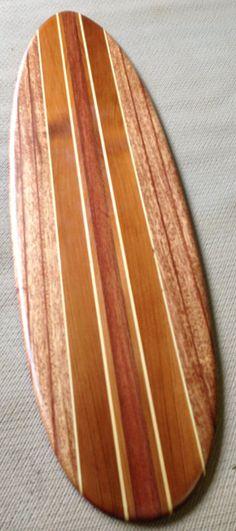 Reclaimed wood Surfboard wall hanger/coat rack by SCMKayaks, $50.00
