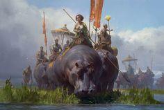 Elephant sized hippos