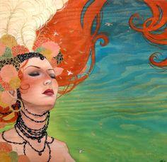 Sylvia Ji acrylic on wood panel