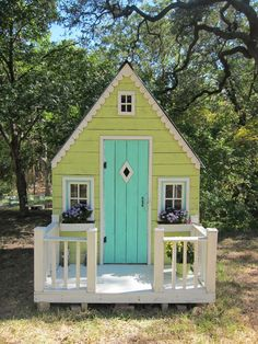 I don't think hubby would want to spend money on it, but I always wanted a playhouse like this as a kid! Maybe our kiddos will get one?