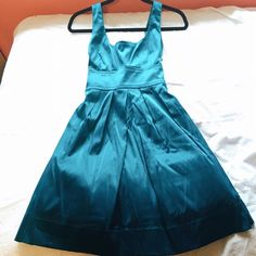 teal silk dress, perfect for a classy night out! Never before worn, brand new conditions Macy's Dresses
