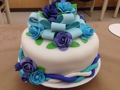 Michaels Cake Decorating Class Sign Up Entrancing My Wilton Course 1 Final Cake  Decorated Cakes  Pinterest Decorating Inspiration