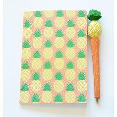 a8a3df5bcefc Sass Belle - Orange Pineapple A5 Notebook   Pen Set
