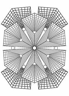 Adult Coloring (Doodles) on Behance Geometric Coloring Pages, Pattern Coloring Pages, Online Coloring Pages, Printable Adult Coloring Pages, Mandala Coloring Pages, Coloring Book Pages, Coloring Sheets, Geometric Art, Geometric Designs