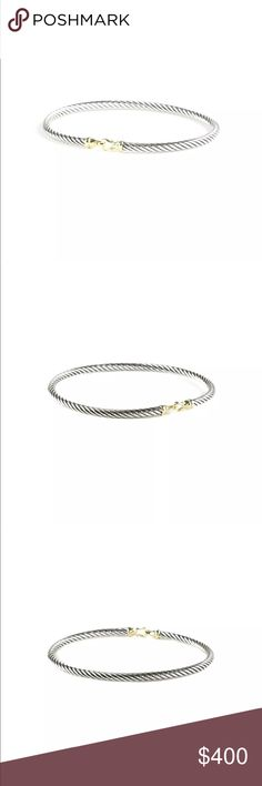 David Yurman cable bracelet with 18k yellow gold David Yurman cable bracelet with 18k yellow gold David Yurman Jewelry Bracelets