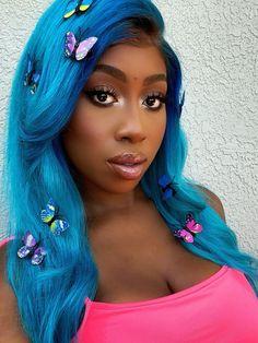 färga håret blått utan att bleka